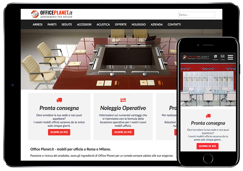 Restyling sito OfficePlanet.it dispositivo mobile