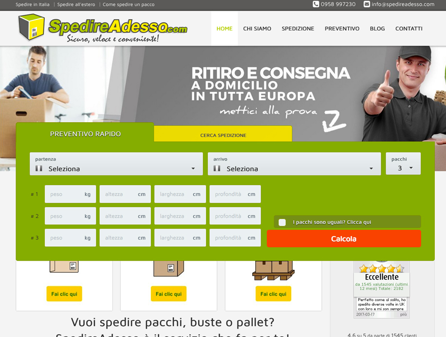 Restyling SpedireAdesso.com