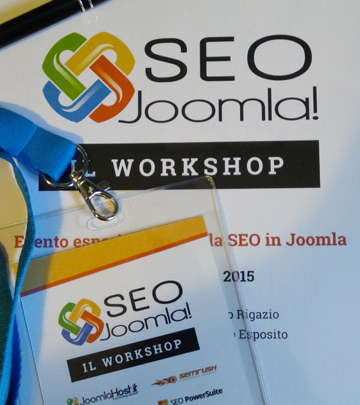 Relatore al workshop Joomla Roma